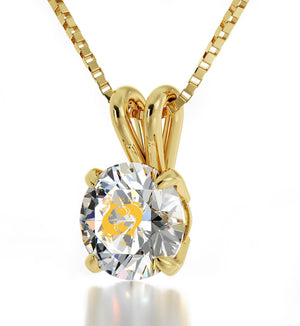 Birthday Gift For Teenage Girl Star Sign Necklace CZ Crystal Stone Valentines