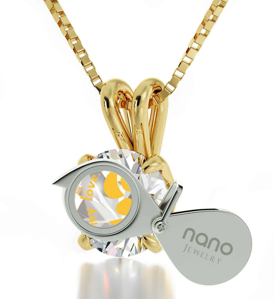 """Good Valentine Gifts for Girlfriend, Unique Gold Filled Necklace withCZ Charm, Xmas Ideas for Wife"""