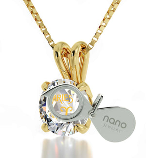 """GirlfriendBirthdayIdeas:AriesBirthstoneJewelry,DaintyGoldNecklace,WomensPresents by Nano"""