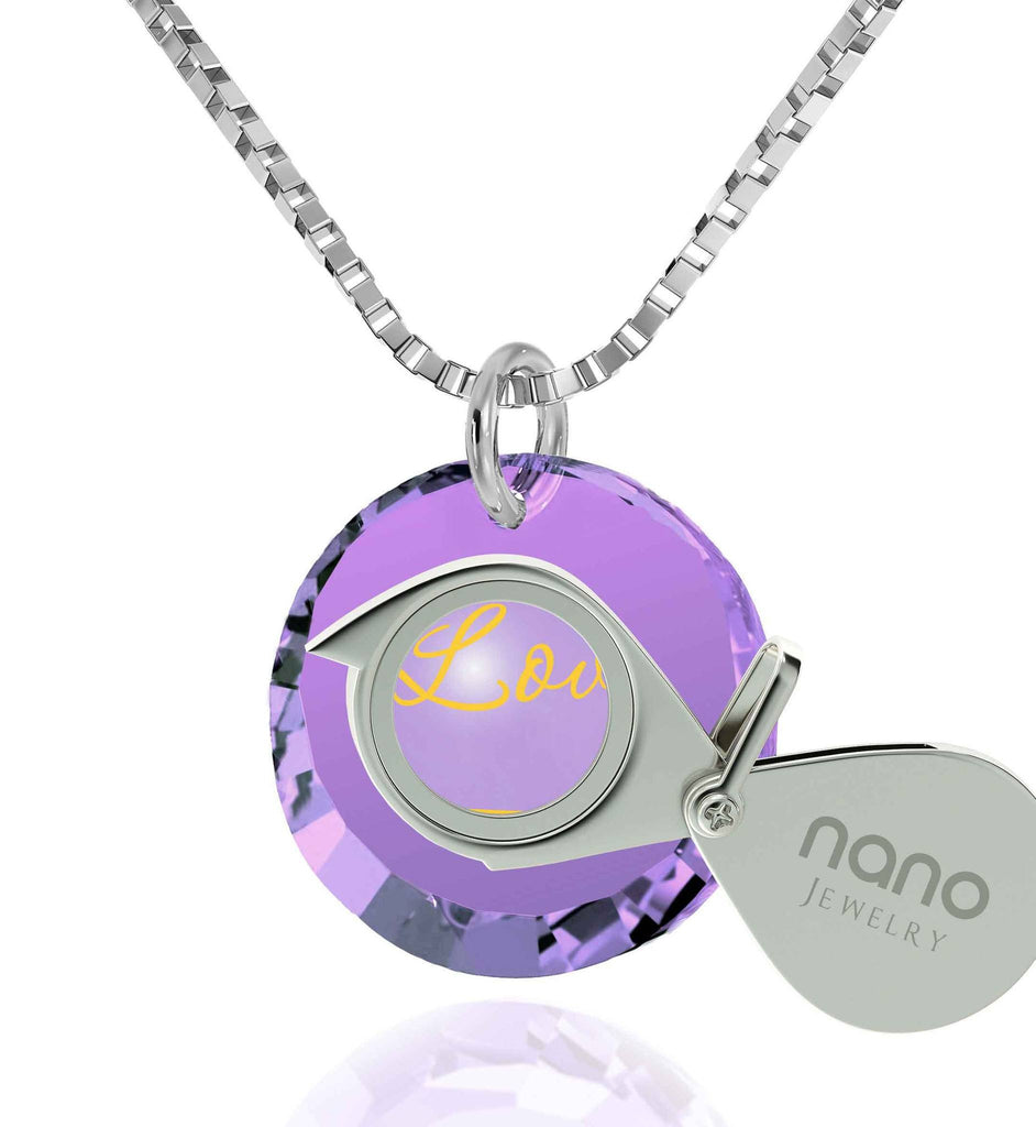 What to Get Girlfriend for Christmas,Sterling Silver Jewelry, 24k Imprint, Great Gifts for Wife, by Nano