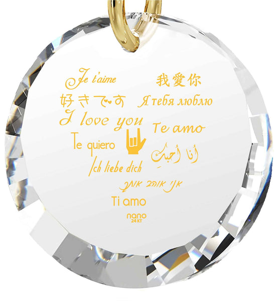 What to Buy My Girlfriend for Christmas, Dainty Gold Necklace, CZ White Round Stone, Top Gifts for Wife by Nano Jewelry