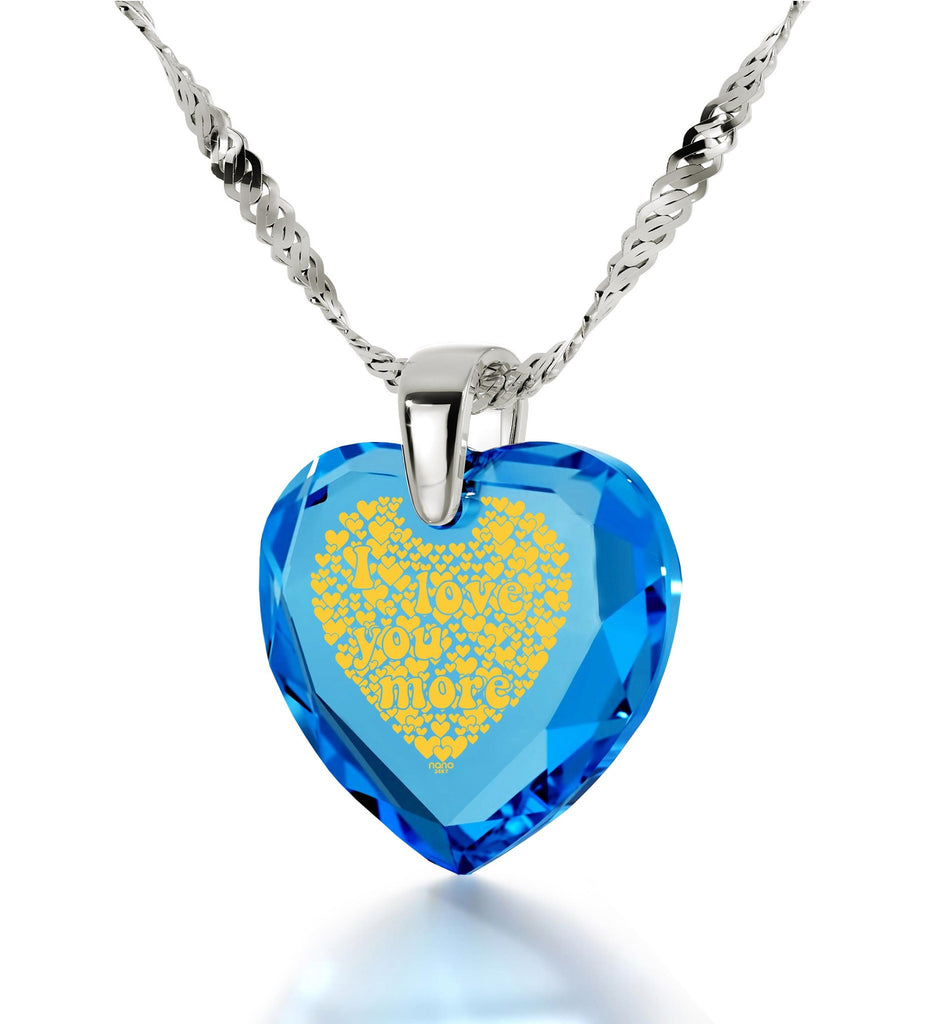 """Good Valentines Day Gifts for Girlfriend,Sterling Silver, 24k Imprint, Pure Romance Products, Nano Jewelry"""