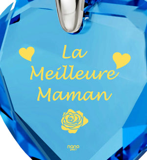 """Good Presents for Mom, ""La Meilleure Maman"", Engraved Jewellery for Women, Special Mother's Day Gifts"""