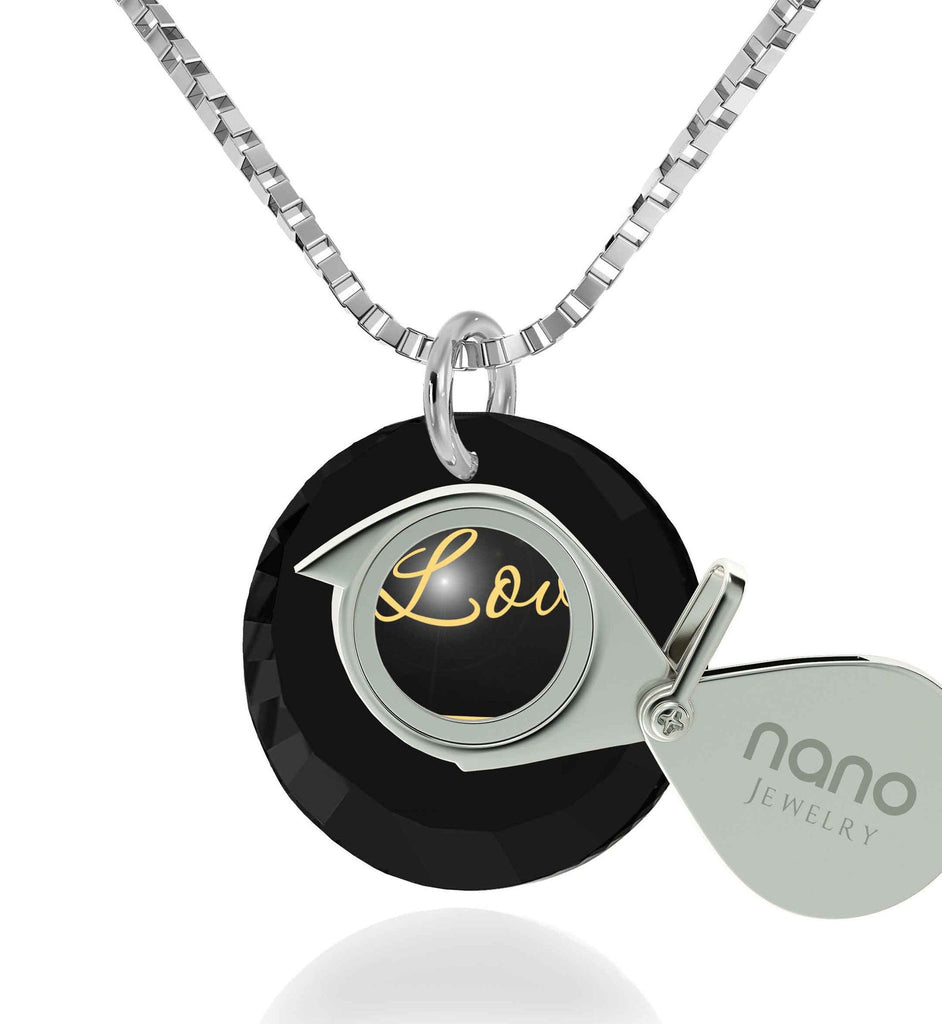 "Best Christmas Present for Wife, 14k White Gold Jewelry, ""I Love You Infinity"", Good Gifts For Girlfriend, Nano"