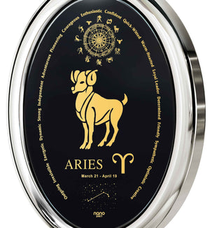 Great Valentines Gifts for Her: Aries Horoscope Personality, Womens 14k White Gold Necklace, 25th Birthday Ideas for Her