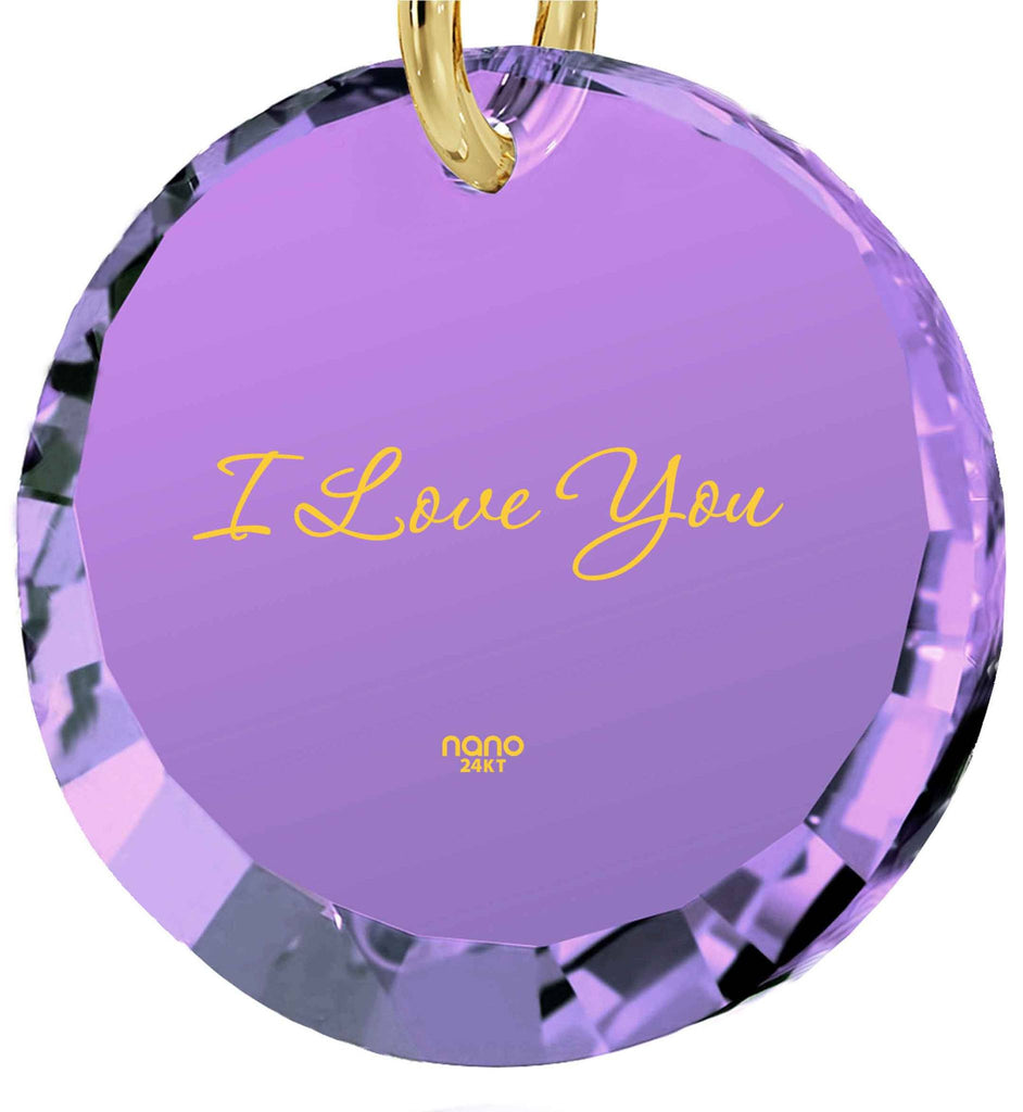 Great Valentines Gifts for Her, Girlfriend Necklace, CZ Jewelry, 30th Birthday PresentIdeas,Nano