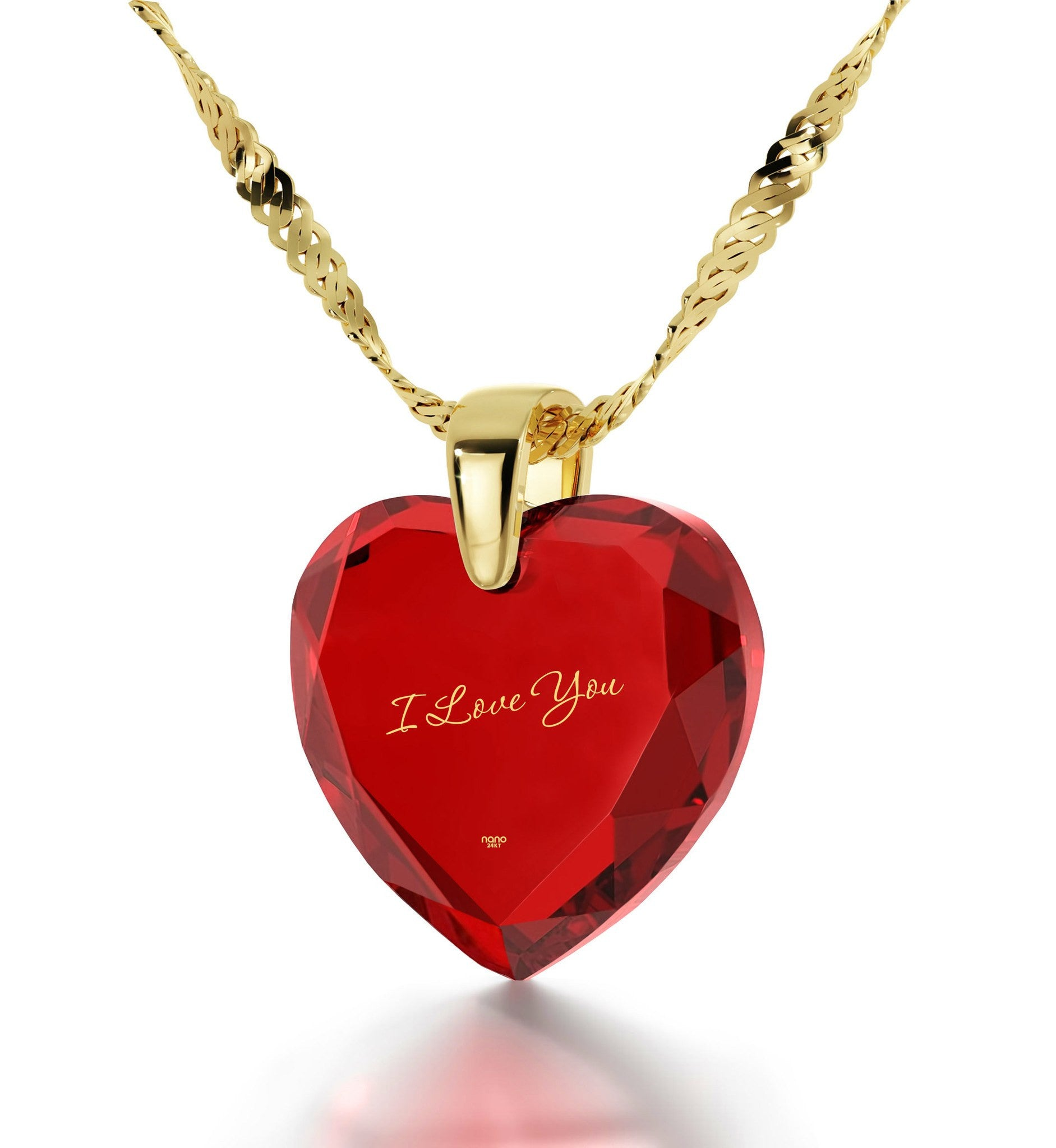 Great Valentines Gifts for Her, Red Heart Jewelry with 14k Gold Chain, Cute Necklaces for Girlfriend