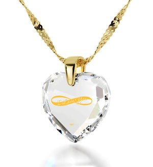 Heart Necklaces for Girlfriend, 24k Imprint, Gold Filled Jewelry, Gift for Wife Anniversary, by Nano