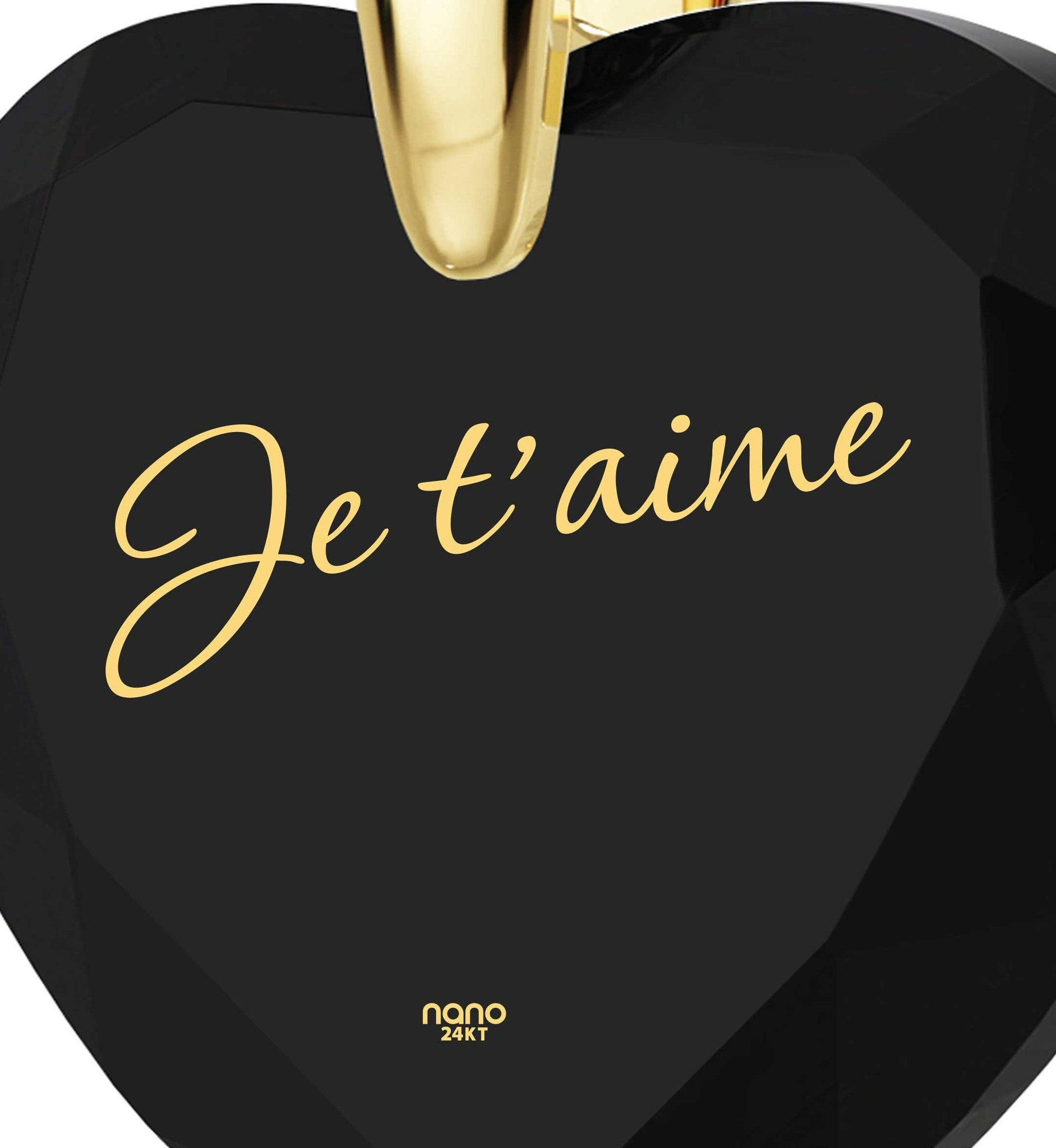 "Good Christmas Presents,""Je Taime""- How to Say I Love You in French? Silver Necklace, Romantic Gifts for Her"