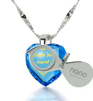 """Great Valentines Gifts for Her,Sterling Silver 24k Engraved Jewelry, Christmas Gift Ideas Wife, Nano"""