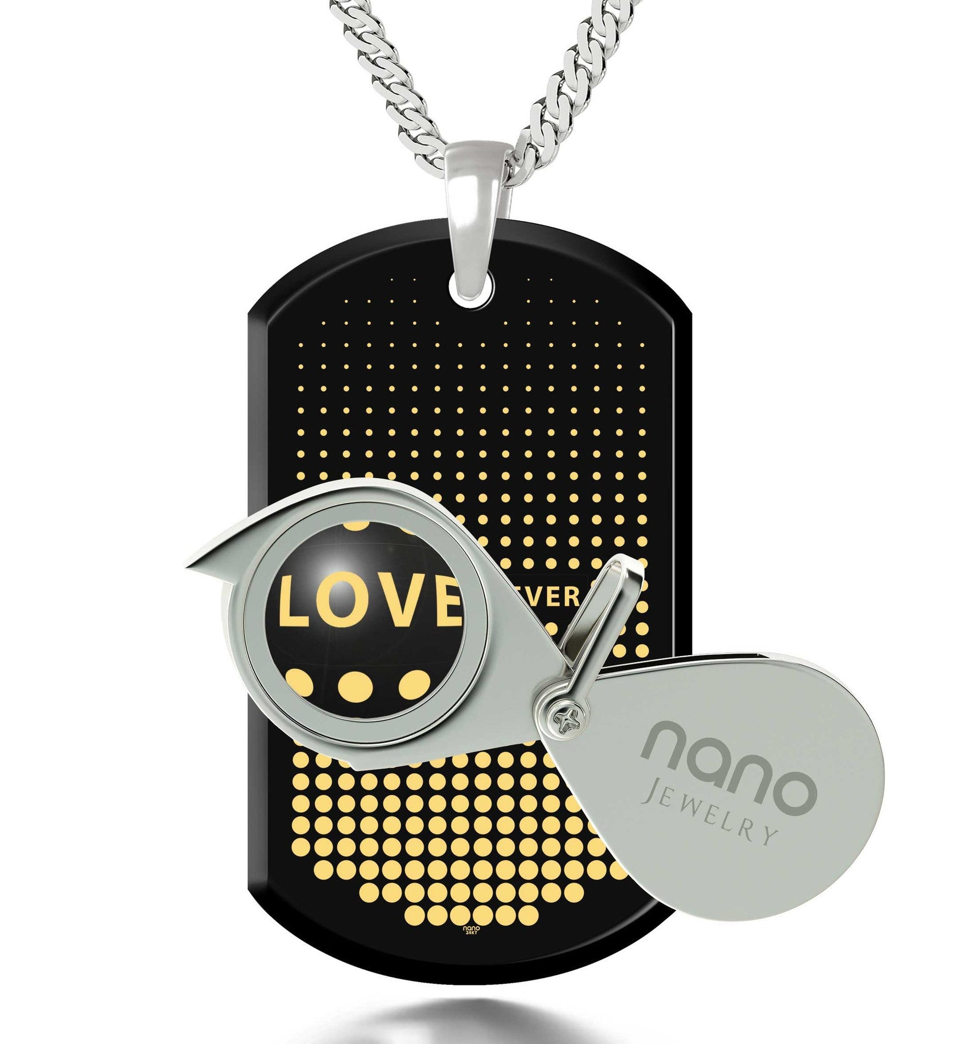 Husband Valentines Gift, Silver Chain with Love Forever Engraved Pendant, What to Get Your Boyfriend for His Birthday
