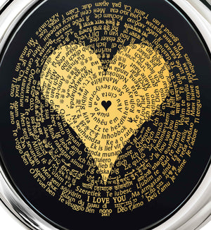 "Valentines Gifts Girlfriend: ""I Love You"" in All Languages - Round - Nano Jewelry"