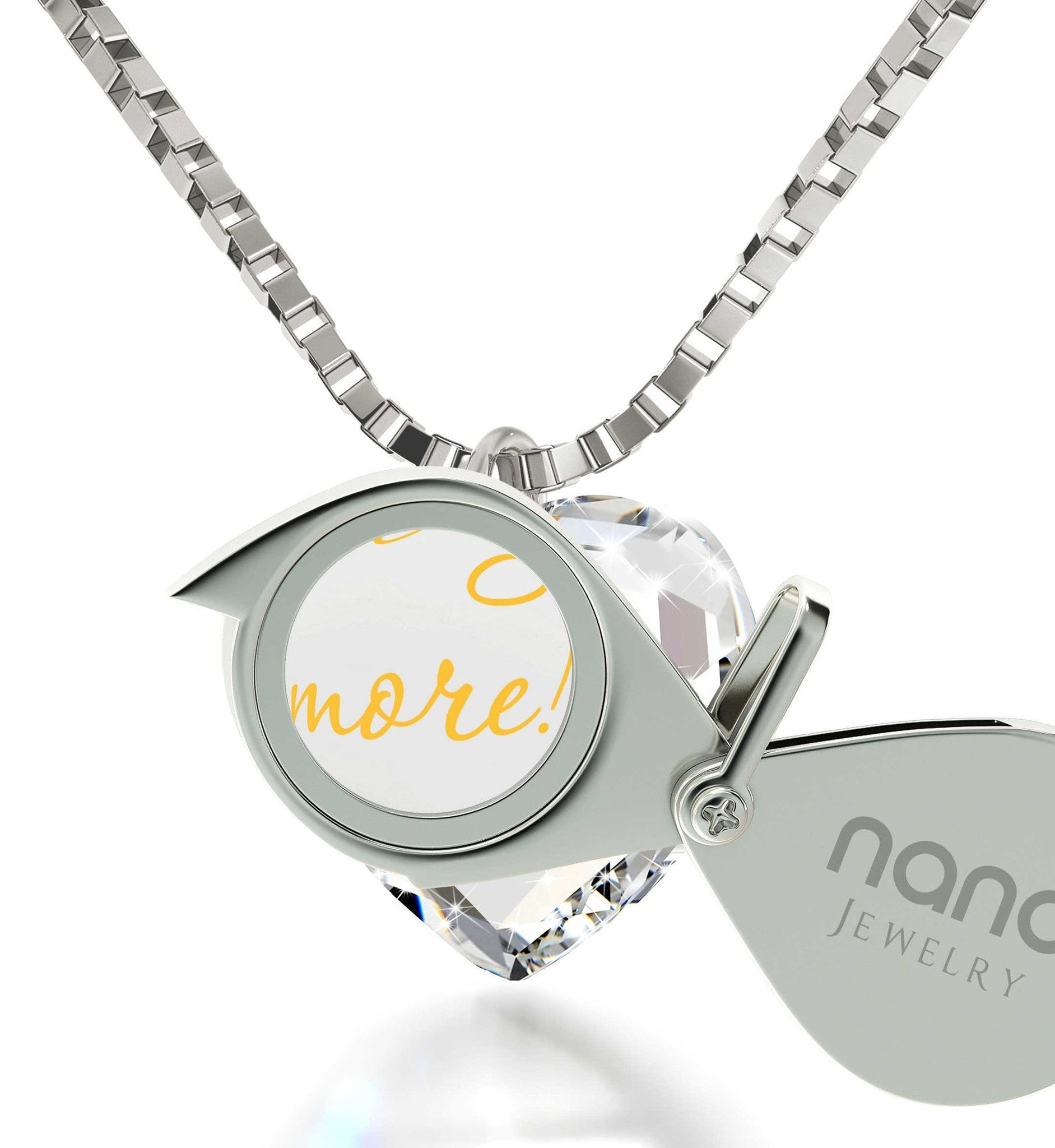 """I Love You More"" 24k Gold, Best Valentine Gift for Wife, Cool Xmas Presents, Nano Jewelry"