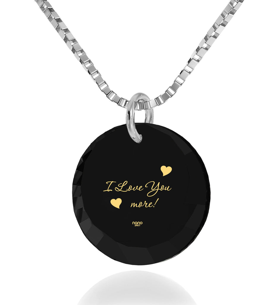 """The Love Necklace Black Gold Jewelry Gift Idea For Girlfriend By Nano"""
