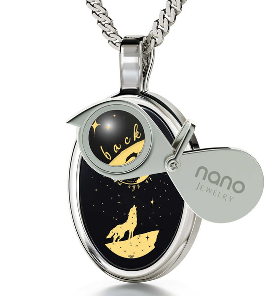 "Presents for Girlfriend, 14k Gold ""I Love You to the Moon and Back"" Necklace, Top Gifts for Women, Nano Jewelry"