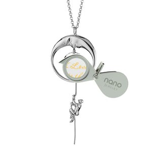 Gift for Girlfriend On Valentine's Day: I Love You to the Moon and Back - Climber - 925 Sterling Silver - Nano Jewelry