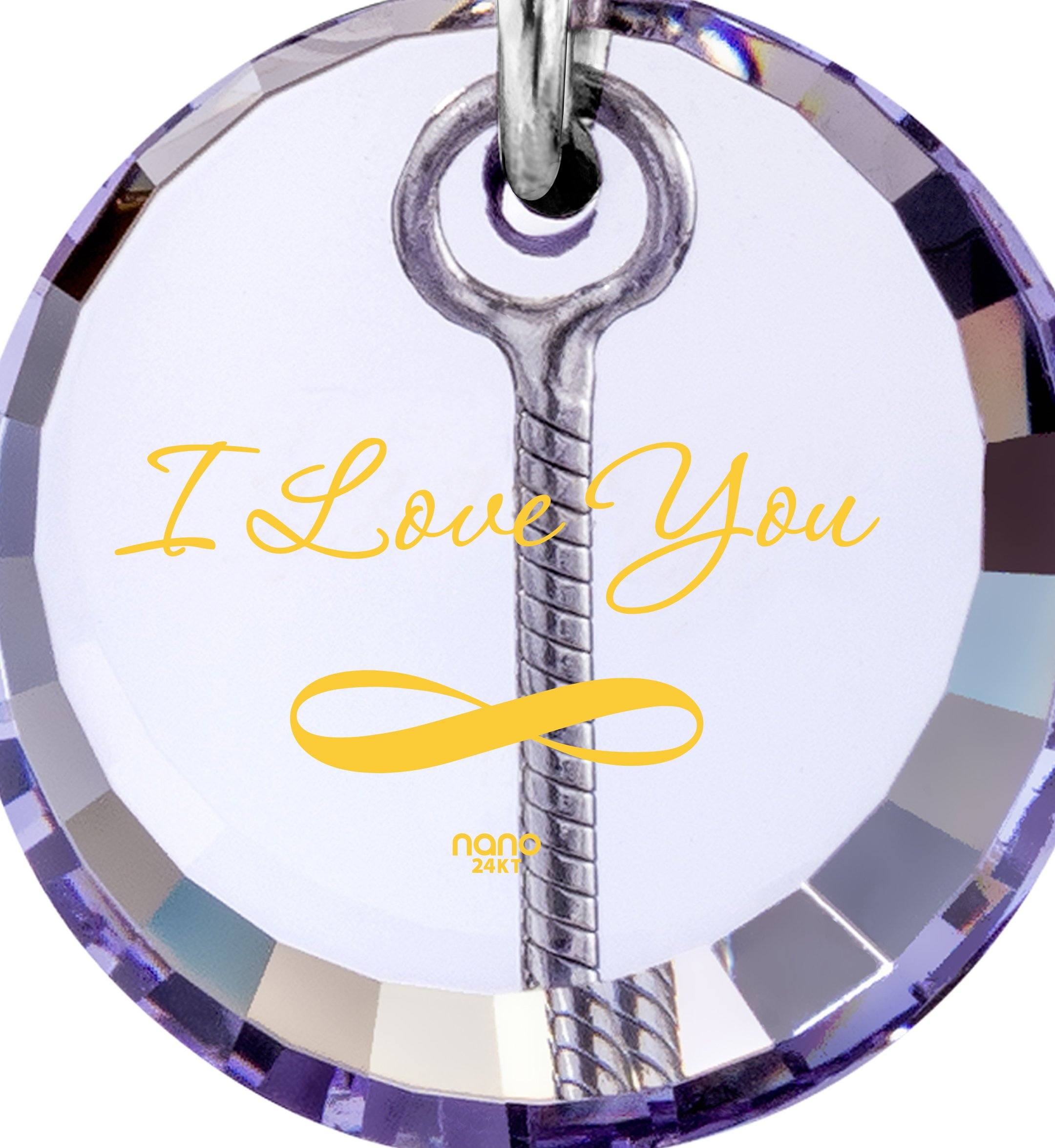 I Love You to the Moon and Back Gifts: Valentines Ideas for Her, Good Birthday Gifts for Girlfriend, Nano Jewelry