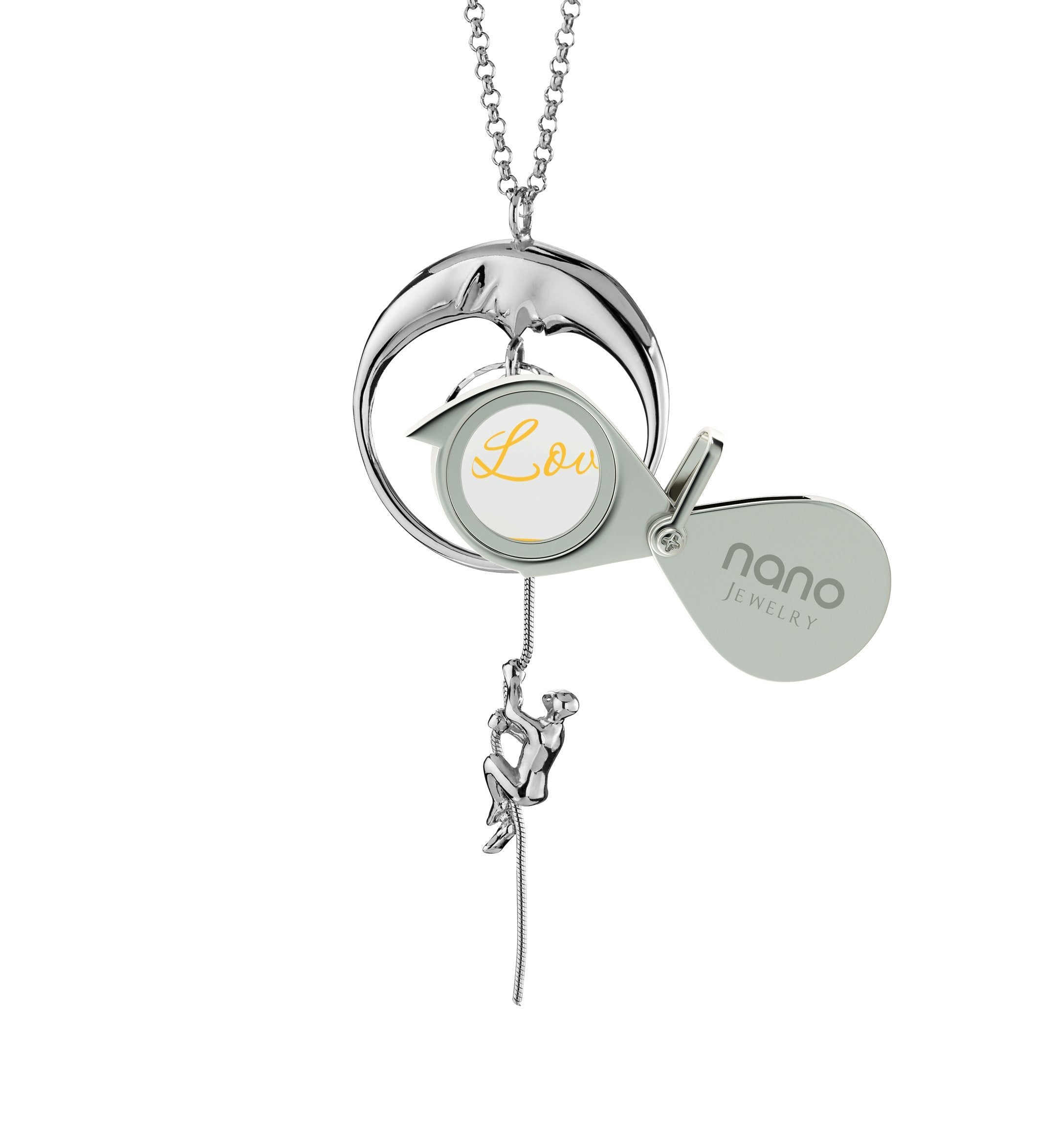 I Love You to the Moon and Back Jewelry: Engraved Necklaces for Her, Perfect Valentines Gift for Girlfriend, Nano Jewelry
