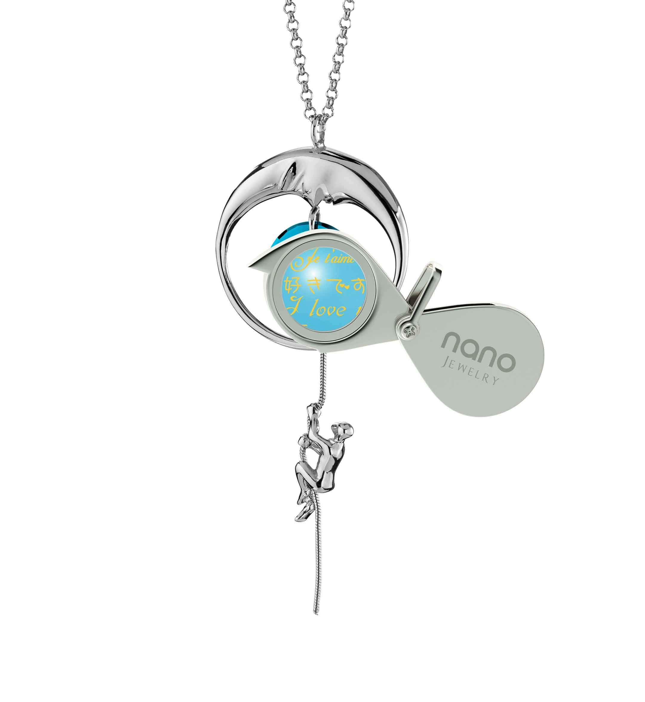 Good Valentines Day Ideas for Girlfriend: I Love You to the Moon and Back - climber - Nano Jewelry