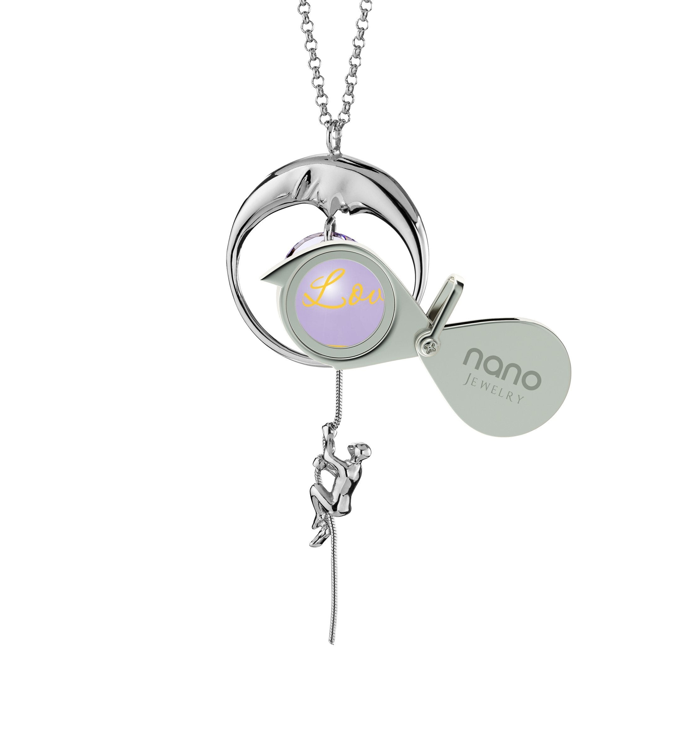 I Love You to the Moon and Back Jewelry: Women's Gifts for Christmas, Graduation Presents for Her, Solid Silver Necklace