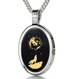"Presents for Girlfriend,""I Love You to the Moon and Back"", Engraved Jewelry, Cool Gift for Women, By Nano Jewelry"