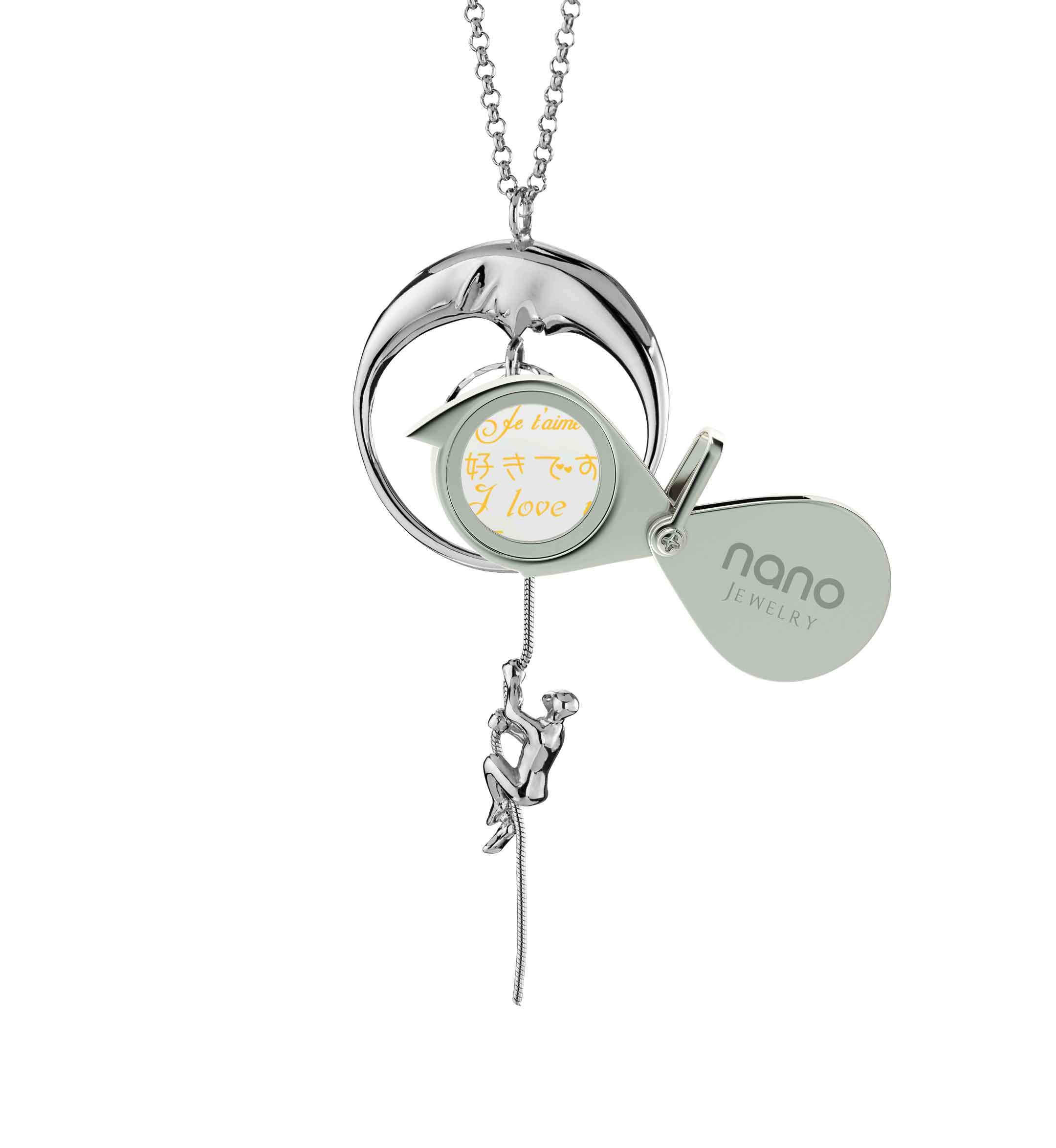 Valentine's Day Jewelry for Girlfriend: I Love You to the Moon and Back - climber - Nano Jewelry