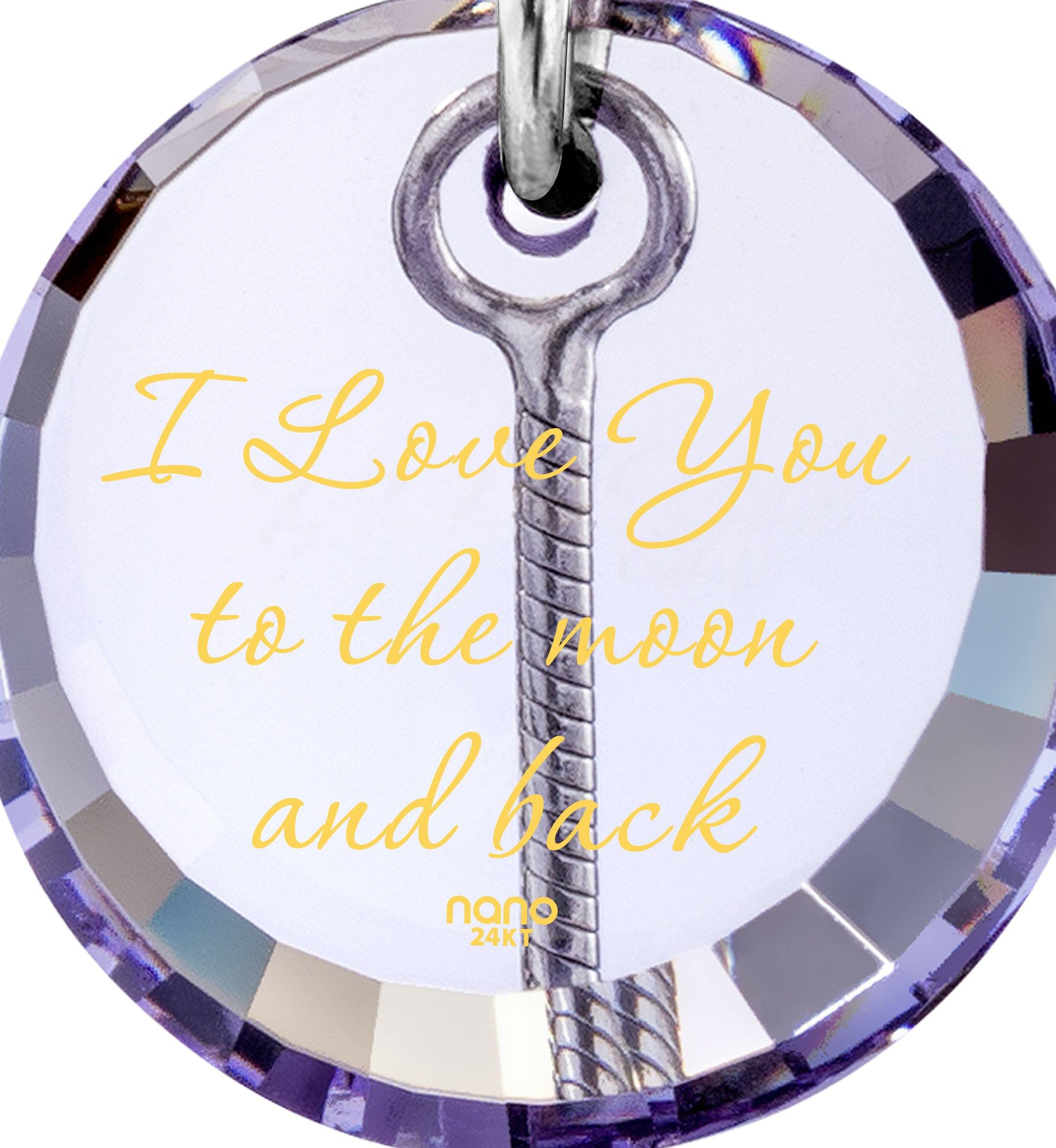 I Love You to the Moon and Back Necklace: Top Womens Gifts, birthday ideas for girlfriend Nano Jewelry
