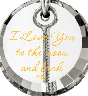 I Love You to the Moon and Back Necklace: Xmas Presents for Her, Birthday ideas for Girlfriend, Nano Jewelry