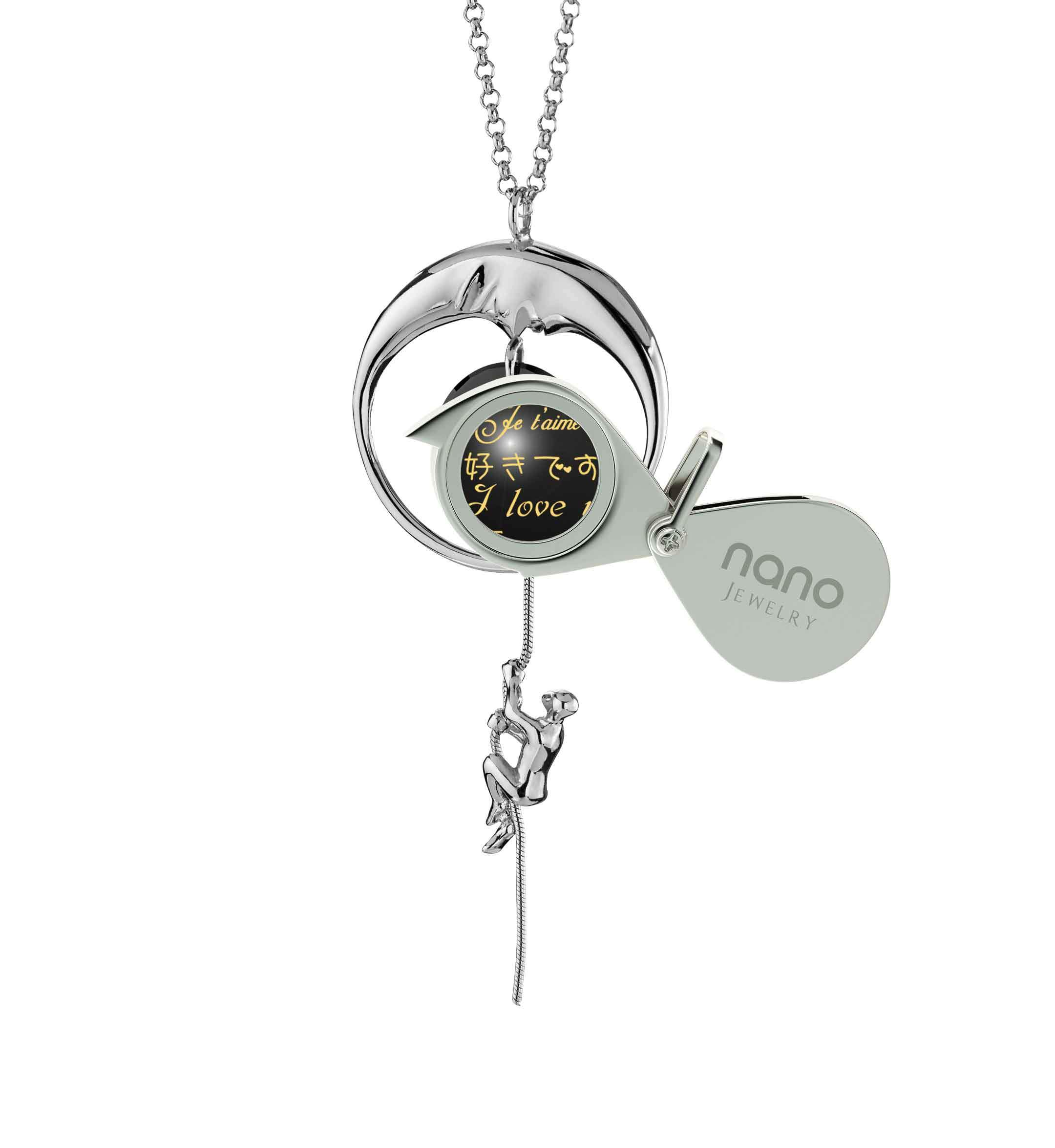 Cute Valentines Day Ideas for Girlfriend: I Love You to the Moon and Back - climber - Nano Jewelry