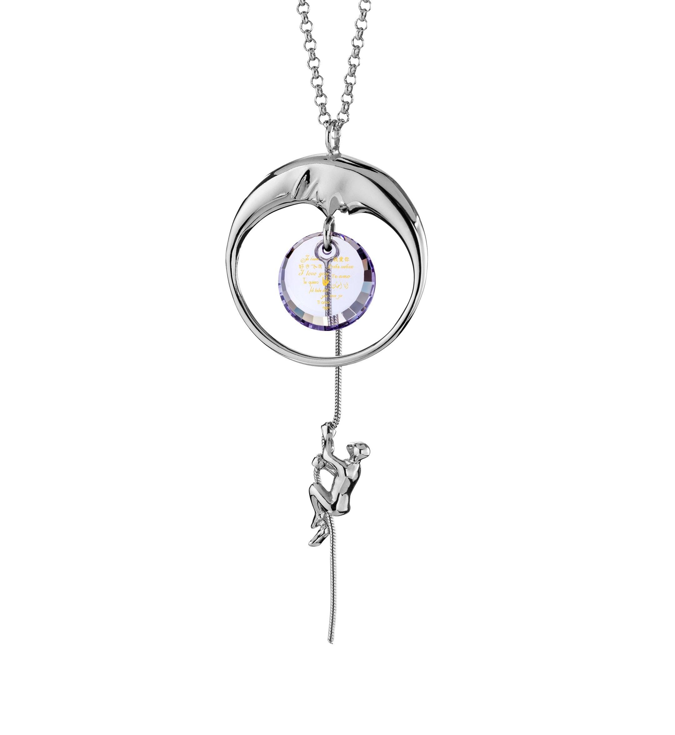 Best Things To Get Your Girlfriend On Valentine'S Day: I Love You to the Moon and Back - climber - Nano Jewelry