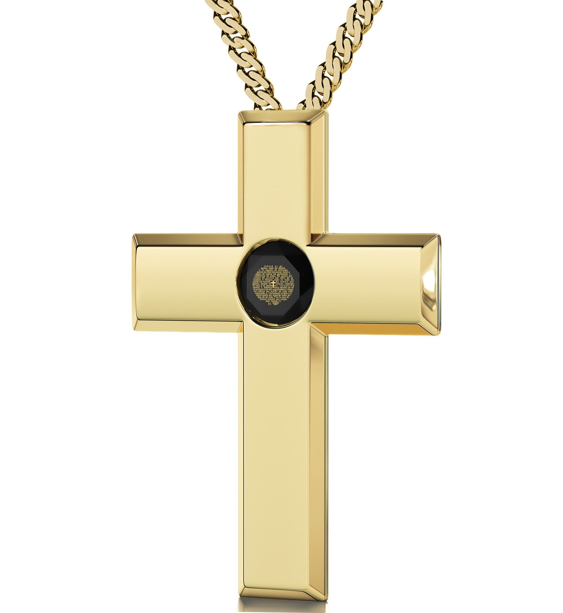 """JehovaEsMi Pastor in 24k: Birthday Present for Girlfriend, Great Gifts for Wife, Gold Cross Necklace Womens"""
