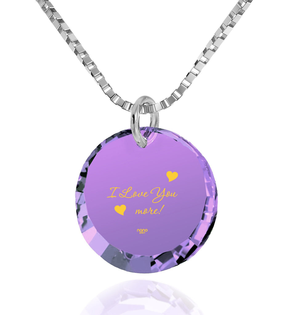 """Jewelry For Women The Love Necklace 24k Engraved Gift For Girlfriend"""