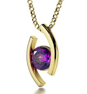 """John 3-16 EngravedinPendant, ChristmasGiftIdeas for Sister, ChristmasPresents for Ladies,  GoldPlatedJewelry, NanoJewelry"""