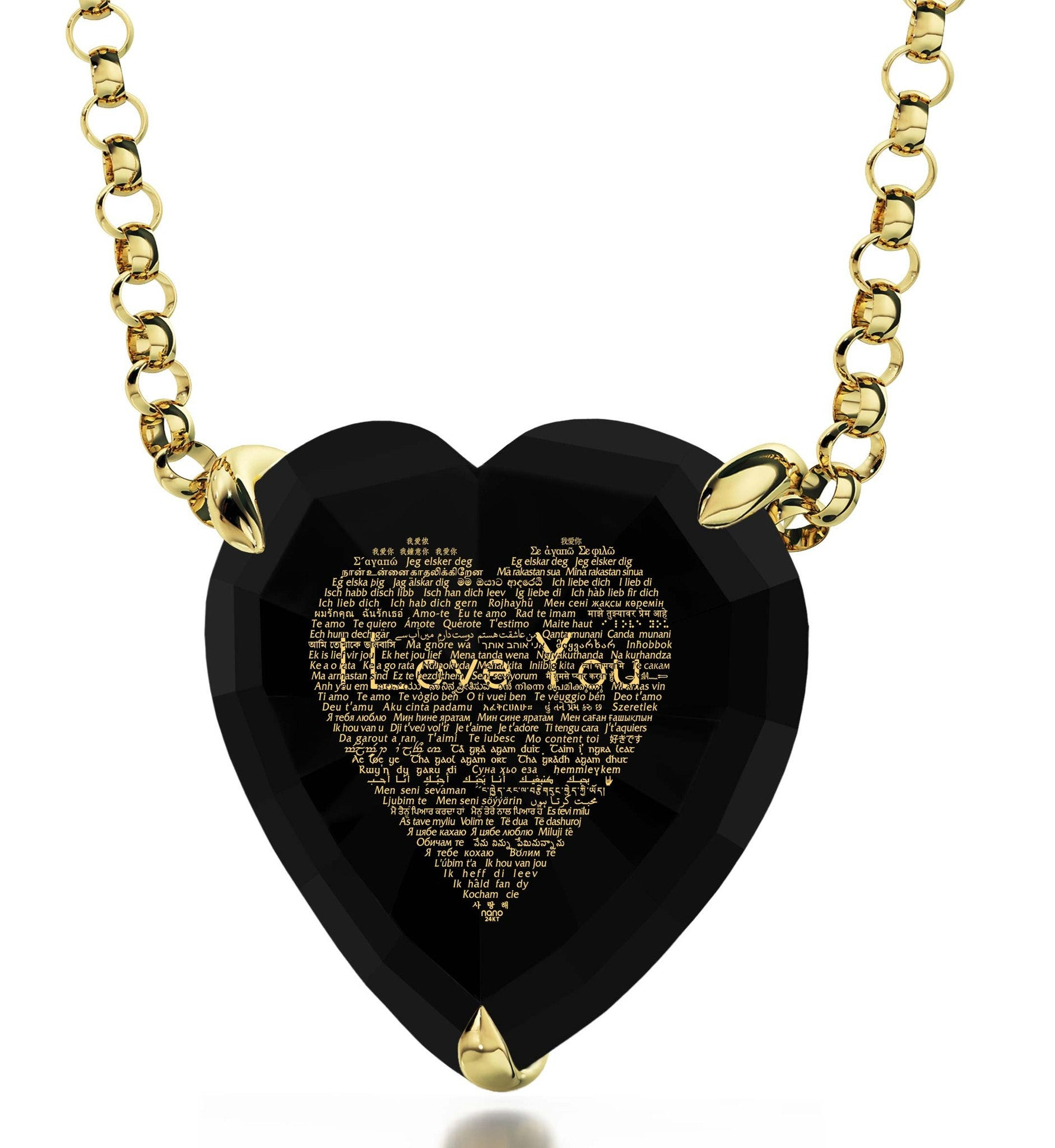"Valentines Ideas for Her, ""I Love You"" in 120 Languages, Nano Jewelry"