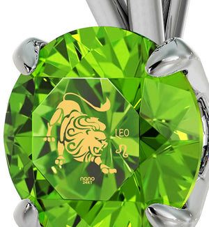 """Unique Jewelry with Green CZ Pendant, Christmas Present Ideas for Wife, Perfect Valentines Gift for Girlfriend"""