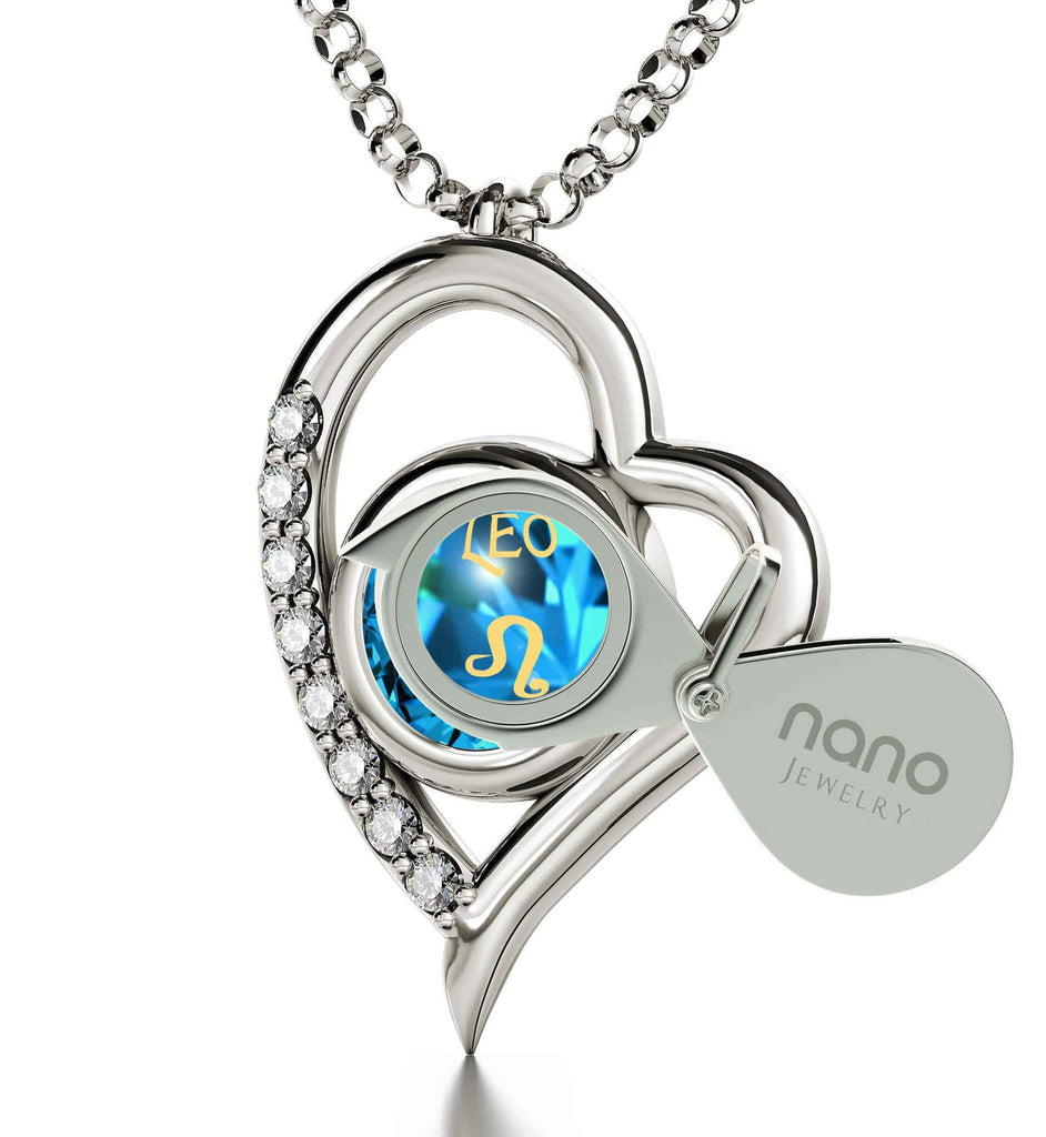 """Leo Necklace: Blue Stone Jewelry, Gifts for Best Friend Woman, Xmas Ideas for Wife"""