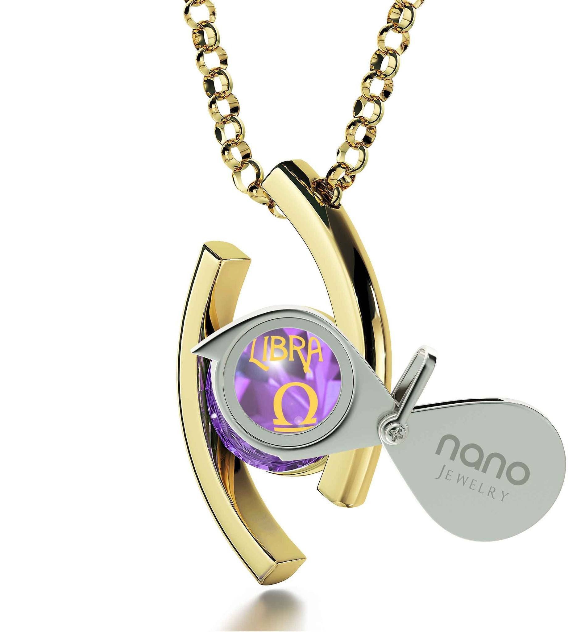 """Libra Jewelry With Zodiac Imprint, Special Gifts for Sisters, Christmas Presents for Your Best Friend, by Nano"""