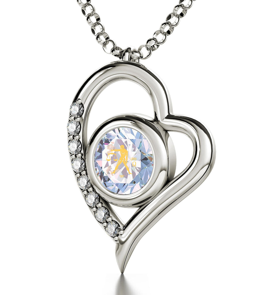 """Libra Jewelry,Sterling Silver Pendants for Womens, Good Christmas Presents for Girlfriend, Unique Valentine Gifts for Her"""