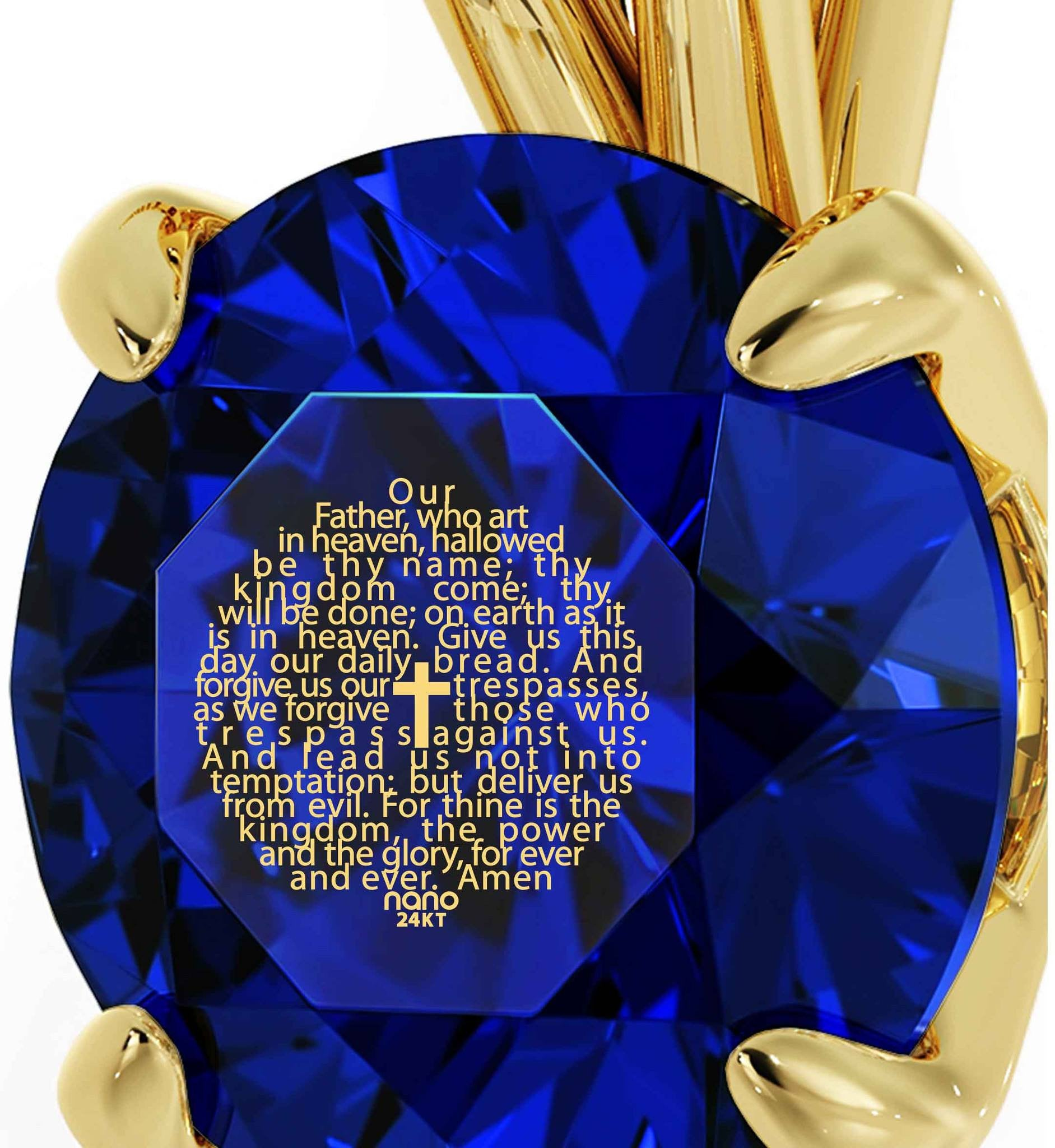 """Lord's Prayer Traditional Version in 24k Gold, Top Womens Gifts, Birthday Presents for Her, Nano Jewelry"""