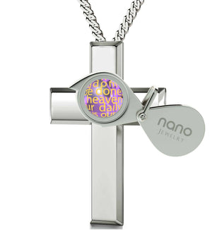 Womens silver cross necklace shop for christian nano jewelry today lords prayer catholic top womens gifts girl cross necklacejewelry with meaning aloadofball Choice Image