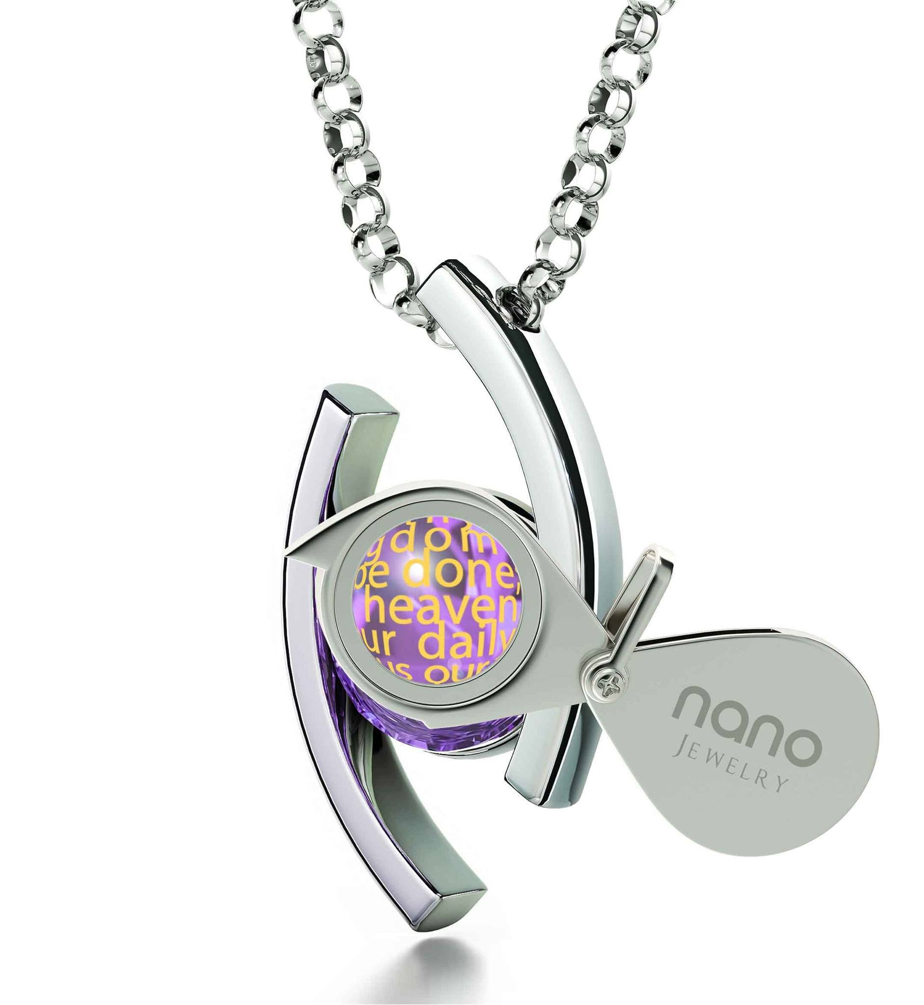 """Lord's Prayer Pendant, Cute Necklaces for Her, Great Gifts for Wife, Jewelry Religious, Nano"""