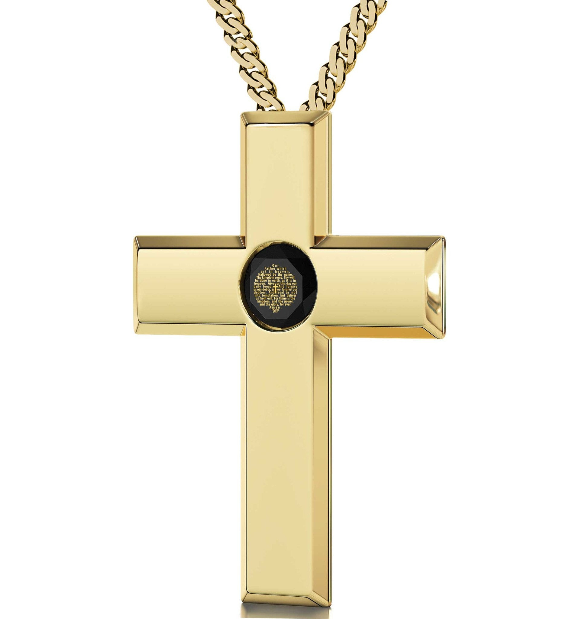 Lord's Prayer Cross Necklace Gifts For Best Friend Woman Birthday Present Ideas For Her Engraved Pendants