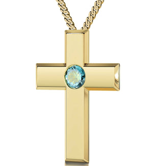 Lord's Prayer Pendant Christmas Ideas For Mum Womens Gold Cross Necklace Meaningful Jewelry
