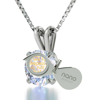 """Lord's Prayer in 24k Imprint, Unusual Xmas Gifts, Scripture Necklaces,Rhodium Jewellery, Nano"""