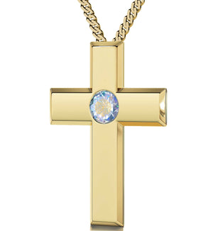 Lord's Prayer King James Version Top Womens Gifts Scripture Necklaces Moonstone Jewelry Nano
