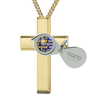 Lord's Prayer In 24k Imprint Christmas Gifts For Best Friend Female Good Presents for GirlfriendNano Jewelry