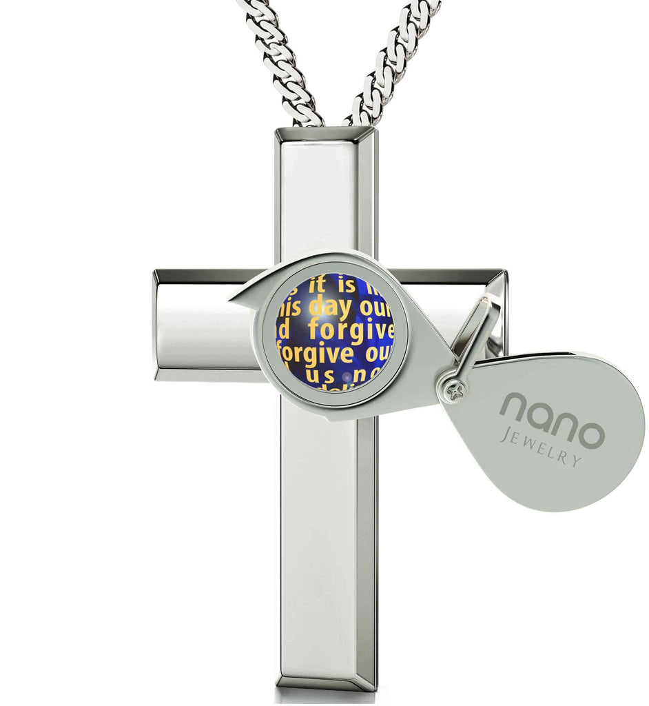 Lord's Prayer in 24k Imprint, Christmas Gifts for Best Friend Female, Good Presents for Girlfriend, Nano Jewelry