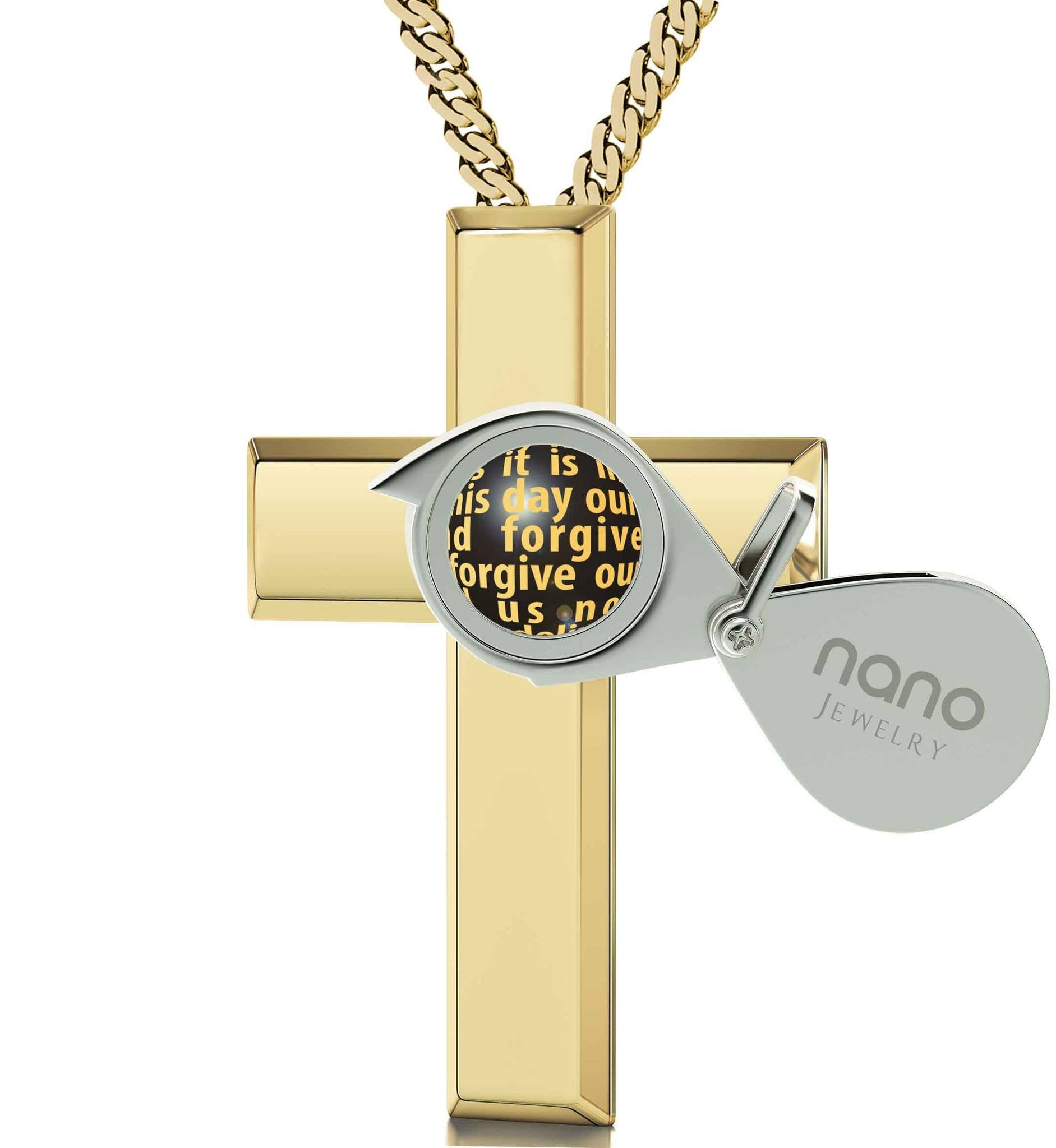 Lord's Prayer Necklace Xmas Ideas For Her Christian Jewelry For Women Engraved Pendants