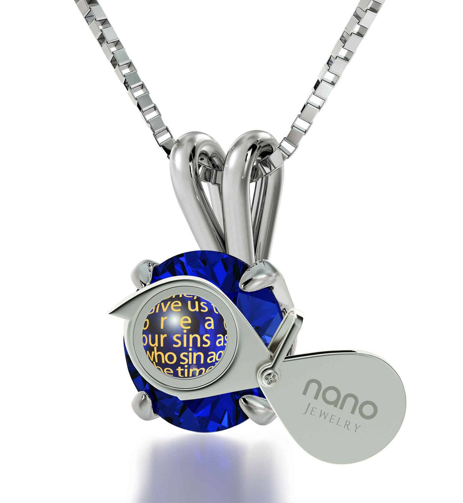 """Lord's Prayer Modern Version, Top Womens Gifts, Good Presents for Girlfriend,Sterling Silver Necklace Chain"""