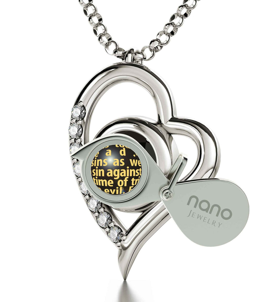 """Lord's Prayer Pendant, Cute Necklaces for Her, What to Get Someone who Has Everything, Meaningful Jewelry"""